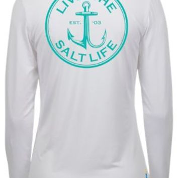 NEW Salt Life Anchor Gaff SLX UVapor Long-Sleeve Shirt for Ladies