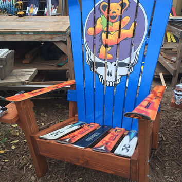 Dancing Bear Steal Your Face- Adirondack Colorado Ski Chair