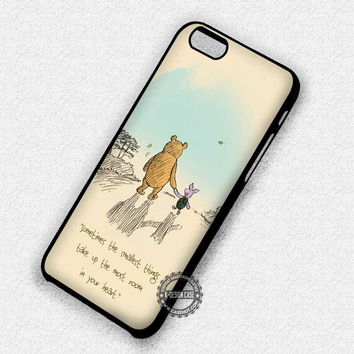 Piglet Winnie The Pooh Classic Vintage Quote - iPhone 7 6 5 SE Cases & Covers