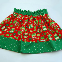 Christmas/Holiday Skirt Boutique Clothing size 12m, 18m, 2t, 3t, 4t, 5, 6,and 7
