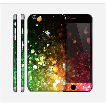 The Neon Glowing Grunge Drops Skin for the Apple iPhone 6 Plus