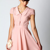 Viv Vintage Peterpan Collar Fit and Flare Dress