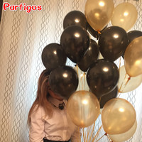 20pcs/lot 10inch 1.5g Black Pearl Latex Balloons Air Balls Inflatable Wedding Birthday Party Decoration Kids Party Classic Toys
