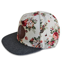 Genuine By Anthony *Exclusive* Biege Floral Strapback | Genuine By Anthony