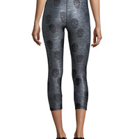 Terez Skull Star Power Capri Performance Leggings