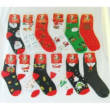 Children's Christmas Crew Socks - Small/1-3