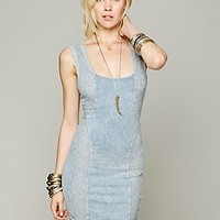 Free People   Washed French Terry Lace Bodycon at Free People Clothing Boutique