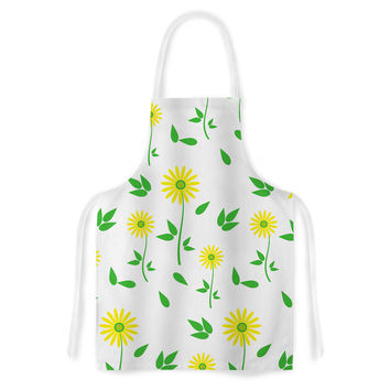 "Louise ""Daisy"" Yellow Green Artistic Apron"
