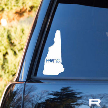 New Hampshire Home Decal   New Hampshire Decal   Homestate Decals   Love Sticker   Love Decal    Car Decal   Car Stickers   069