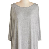 ModCloth Eco-Friendly 3 Simplicity Under the Sunset Top in Mist