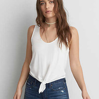 AEO Soft & Sexy Tie Tank , Natural White