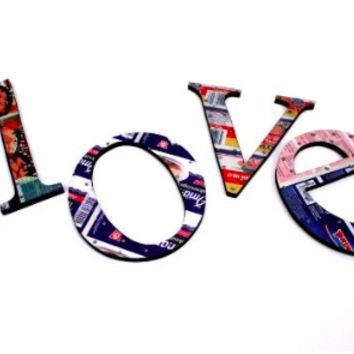 Recycled Tin Words - Love