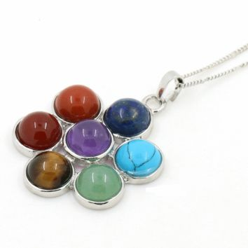 Flower of Life Chakra Pendant Yoga Necklace- A Treasured Piece of Elegance
