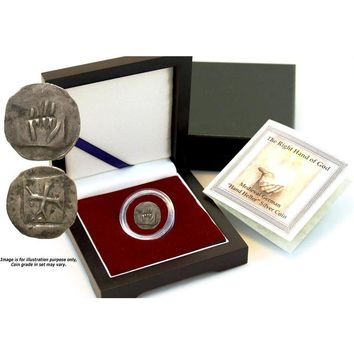 """Right Hand of God Box: Medieval German """"Hand Heller"""" Silver Coin"""
