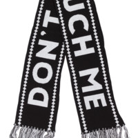 SOURPUSS DONT TOUCH ME SCARF KNIT BLACK