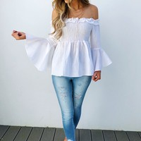 Swing Low Blouse: White