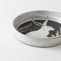 Rabbit Serving Platter : MARCH