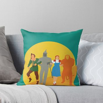 'The Wizard of Oz' Throw Pillow by frauleinfisher