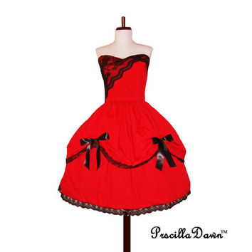 Simply Elegant Doll Inspired Party Dress Custom by priscilladawn