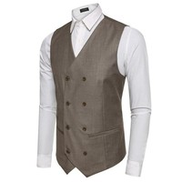 Slim Fit Business Vests For Men