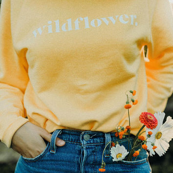 Wildflower Crewneck Sweater