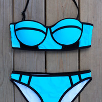 Bring the Heat Bikini - Aqua