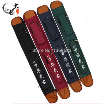 Martial arts kung fu tai chi double and single layers Sword bags 105cm multicolor sword bags