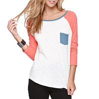 Nollie 3/4 Sleeve Colorblock Tee at PacSun.com