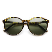 Vintage Inspired Womens Round P3 Keyhole Sunglasses 9475