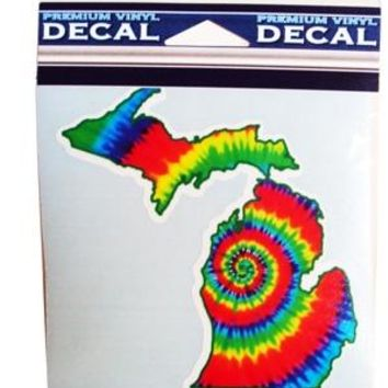 Michigan Tie Dye Map Decal