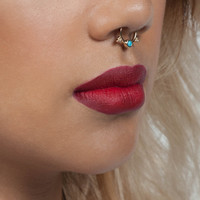 Gold Tribal Faux Septum