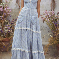 Lace Cotton Maxi Dress | Moda Operandi