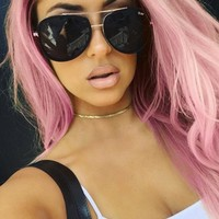 Quay Eyeware Needing Fame Sunglasses in Black/Smoke