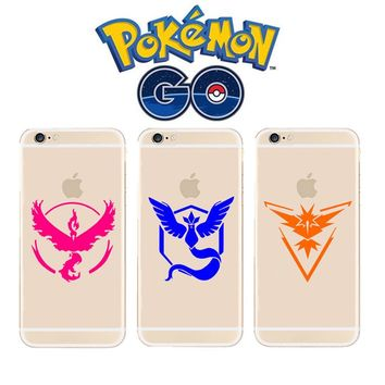 s go game Team Valor Mystic Instinct Silicone Coque Print Crystal Soft TPU Case Cover For iPhone X 5 5S SE 6 6S 7 8 PlusKawaii Pokemon go  AT_89_9