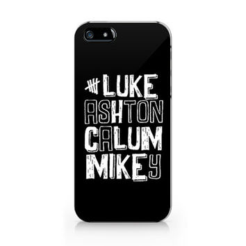 N-522 5 Seconds of summer, Luke ashton calum and mikey from 5SOS for iPhone 4/5/5C/6 case, Samsung galaxy S4/S5/Note3 case