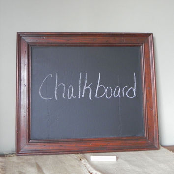 Original Up-Cycled Chalkboard from old wormy Vintage Frame,  Chalk Board,  One of a Kind, Office Message Wedding Menu board