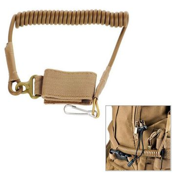 Adjustable Keychain Multi-function Tactical Sling Buckle Elastic Lanyard Secure Spring Rope Camping for Duty Belt Molle Military
