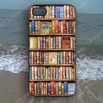 bookshelf Book case  Phone case,Samsung Galaxy S5/S4/S3,iPhone 4/4S case,iPhone 5 case,iPhone 5S case,iPhone 5C case,B128