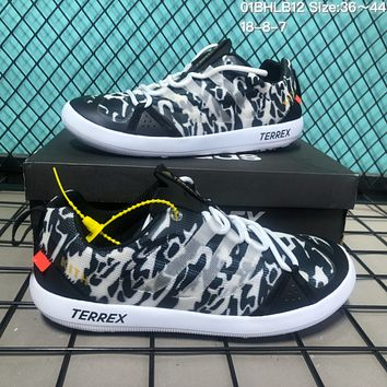 DCCK2 A120 Adidas Terrex CC Boat x Kith Mesh breathable speed interference water shoes Black White