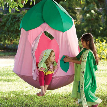 Pink Flower Hanging Pod Toddler Girls Kids Pretend Play Playhouse