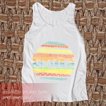 Smile :) Casual Wear Sporty Cool Tank top Funny Tank Cute Direct to garment