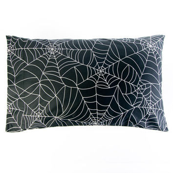 Spider Web Print Pillow Covers | Halloween Home by Sin in Linen