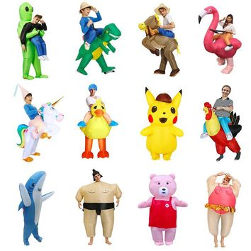 New Inflatable Dinosaur costume Alien Sumo Party costumes unicorn suit dress Cosplay disfraz Halloween Costumes For Adult kids
