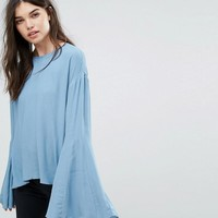Weekday Bell Sleeve Top at asos.com