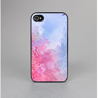 The Pink to Blue Faded Color Floral Skin-Sert for the Apple iPhone 4-4s Skin-Sert Case
