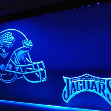 LD323- Jacksonville Jaguars helmet LED Neon Light Sign   home decor  crafts