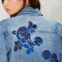 Nothing but Flowers Embroidered Denim Jacket