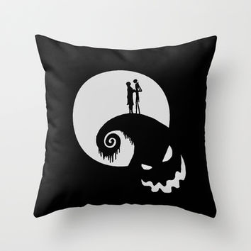 Nightmare Jack Skellington Throw Pillow by aleha