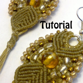 TUTORIAL - Micro Macrame Cleopatra Earrings