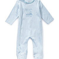 Little Me Newborn-9 Months Thank Heaven for Boys Footed Coverall - Whi